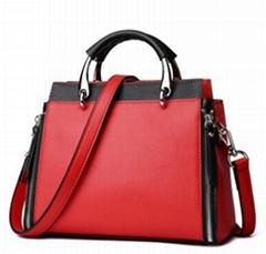 Wholesale china import summer ladies hit color handbag genuine leather handbags
