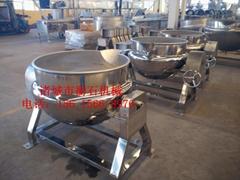 电蒸汽加热搅拌型刮板式立式可倾斜夹层锅