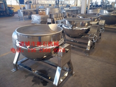 電蒸汽加熱攪拌型刮板式立式可傾斜夾層鍋