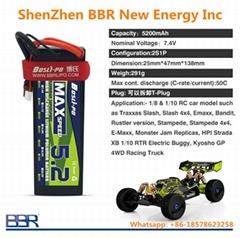 4000mah 5200mah 8000mah 2S 7.4V Hard Case RC Lipo Batteries for RC Car Racing.