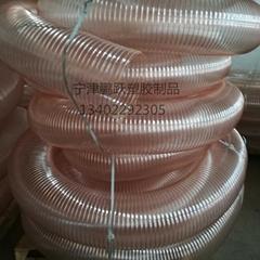 PU聚氨酯镀铜钢丝透明钢丝伸缩管50*0.6