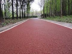 济南彩色景观路面彩色防滑车道