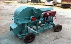 420型小型移动式柴油菌种木材粉碎机厂家直销
