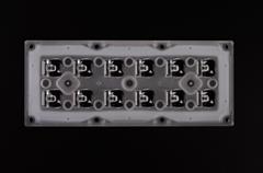 2x6 lens module for street light LED lens asymmetric