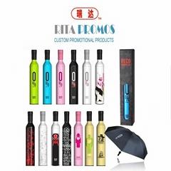 3 Folding Advertising &Promotional Bottle Umbrella (RPGU-3)