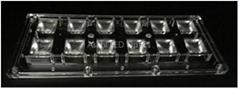 LED optics lens 2x6 module  for Highbay 90°