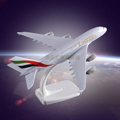 Metal crafts Display Plane Model Airbus 380 Emirates Airlines Simulation Model A