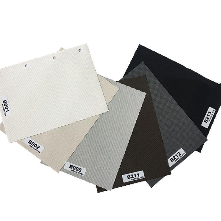 Roller Blind Motorized Exterior Window Shade 5% Openness Sunscreen Fabric 1