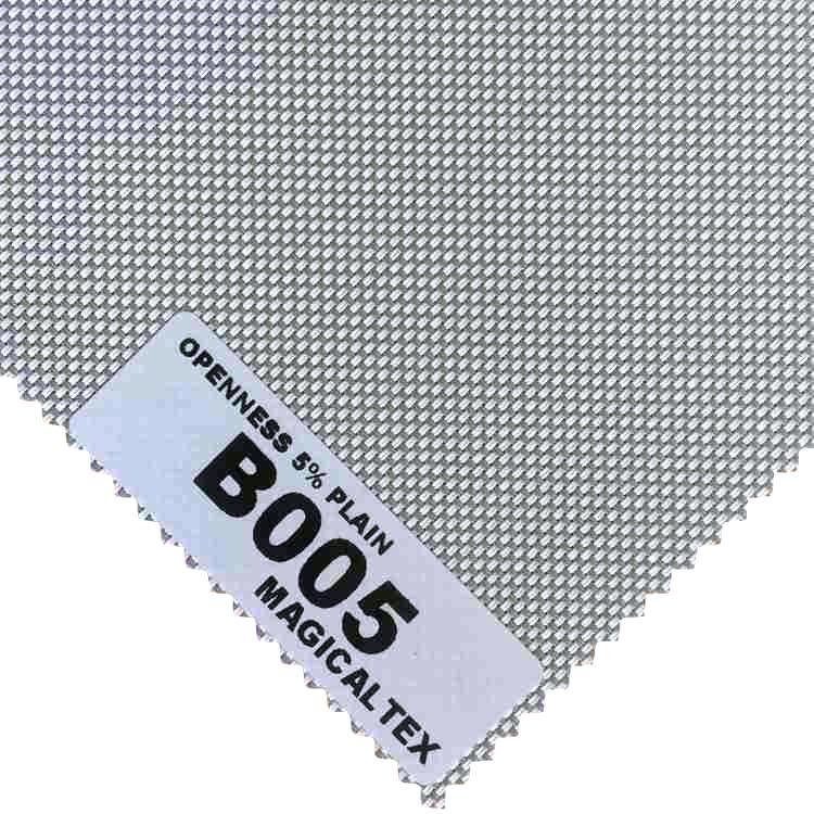 Roller Blind Motorized Exterior Window Shade 5% Openness Sunscreen Fabric 4