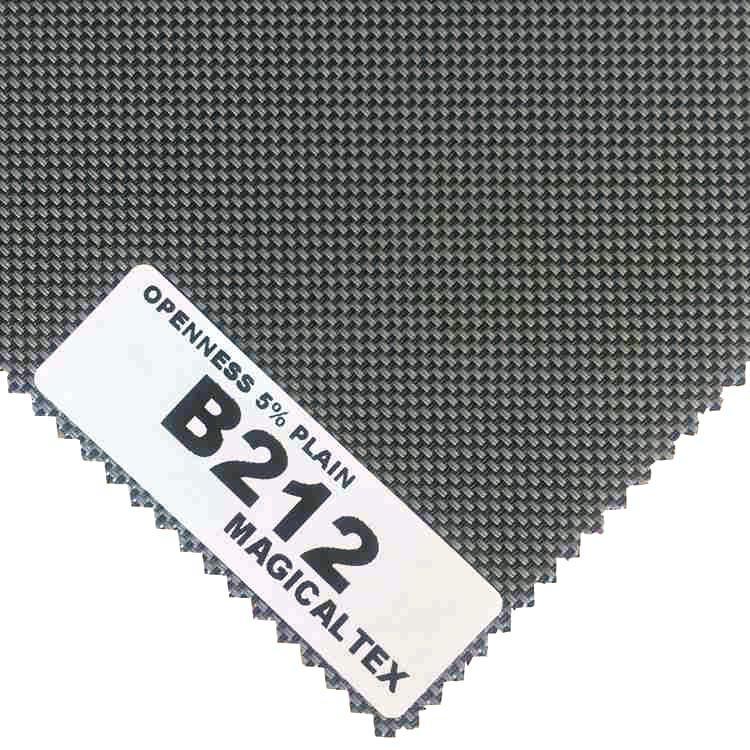 Roller Blind Motorized Exterior Window Shade 5% Openness Sunscreen Fabric 5