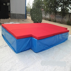 Back high jump mat