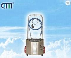 Condenser heat exchanger tube cleaner