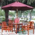 户外桌椅伞 阳台桌椅 防腐木