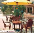 户外休闲桌椅实木套椅花园防腐木