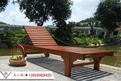 户外躺椅大躺椅/木制躺椅/户外木躺椅/实木躺椅/沙滩椅菠萝格躺椅