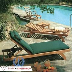 菠蘿格躺椅 戶外休閑躺椅/泳池躺椅/沙灘椅/木製躺椅/實木質躺椅