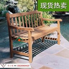 菠蘿格公園椅 戶外實木長條椅 防腐木長椅 休閑廣場椅 柚木長椅