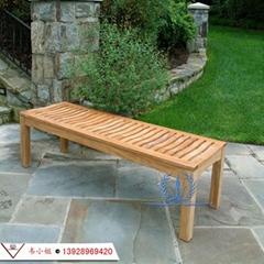 戶外公園椅 庭院花園休閑椅子 實木椅園林長條凳陽台椅防腐木椅