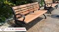 高檔公園椅 鑄鋁腳長椅 塑木長登坐登 廣場椅 戶外休閑坐椅長條椅 4