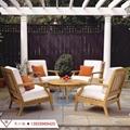 高档休闲简约家具组合 户外庭院花园柚木沙发 实木家具定制 5