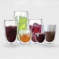 Double Wall Glass Mugs Coffee Cup For Kitchen Dining Bar Office Home School 4
