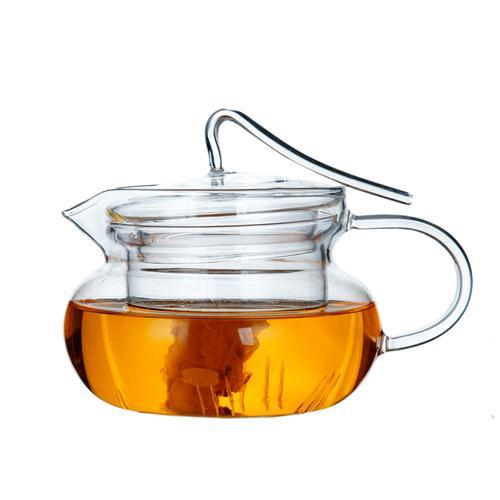 Clear Glass Teapot With Lid & Infuser Tea Mug Gongfu Tea 230ml 7.8 oz 1
