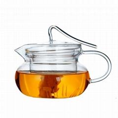 Clear Glass Teapot With Lid & Infuser Tea Mug Gongfu Tea 230ml 7.8 oz