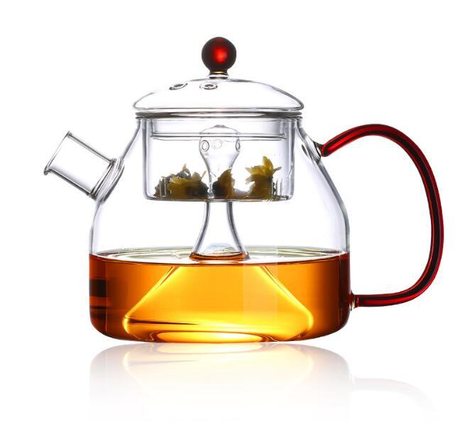 Clear Glass Teapot With Lid & Infuser Tea Mug Gongfu Tea 230ml 7.8 oz 2