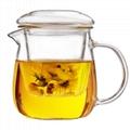 Clear Glass Teapot With Lid & Infuser Tea Mug Gongfu Tea 230ml 7.8 oz 3