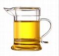 Clear Glass Teapot With Lid & Infuser Tea Mug Gongfu Tea 230ml 7.8 oz 5