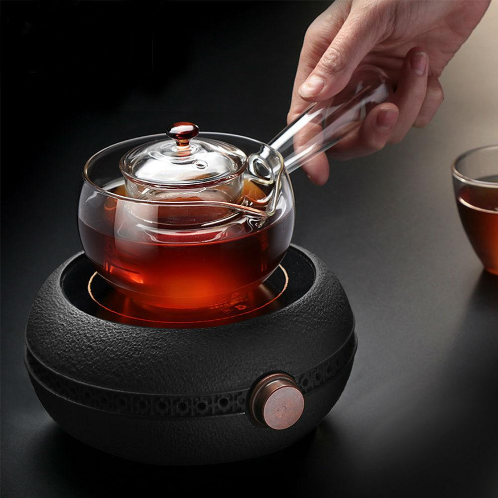 Chinese Kungfu Teaset Wood Side Handle Teapot Radiant-Cooker Using Glass Teapot 5