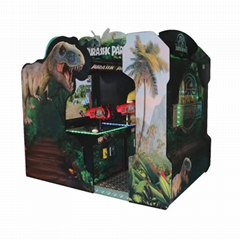 Amusement Coin Operated Target Dinosaur Arcade Game Machine Shooting