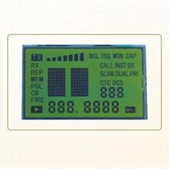 黄绿膜STN LCD液晶段码屏面板