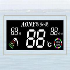 红黄蓝绿四色色丝印VA LCD液晶显示段码屏面板