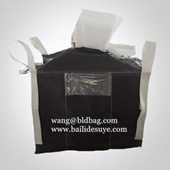 Black big bag 1000kg FIBC black with filling spout