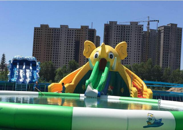 移動式大象充氣滑梯水上樂園 4