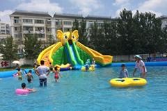 移動式大象充氣滑梯水上樂園