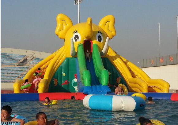 移動式大象充氣滑梯水上樂園 5
