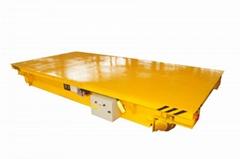 热销工厂设备搬运橡胶轮蓄电池供电电动平车
