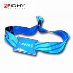 RFID fabric woven wristband