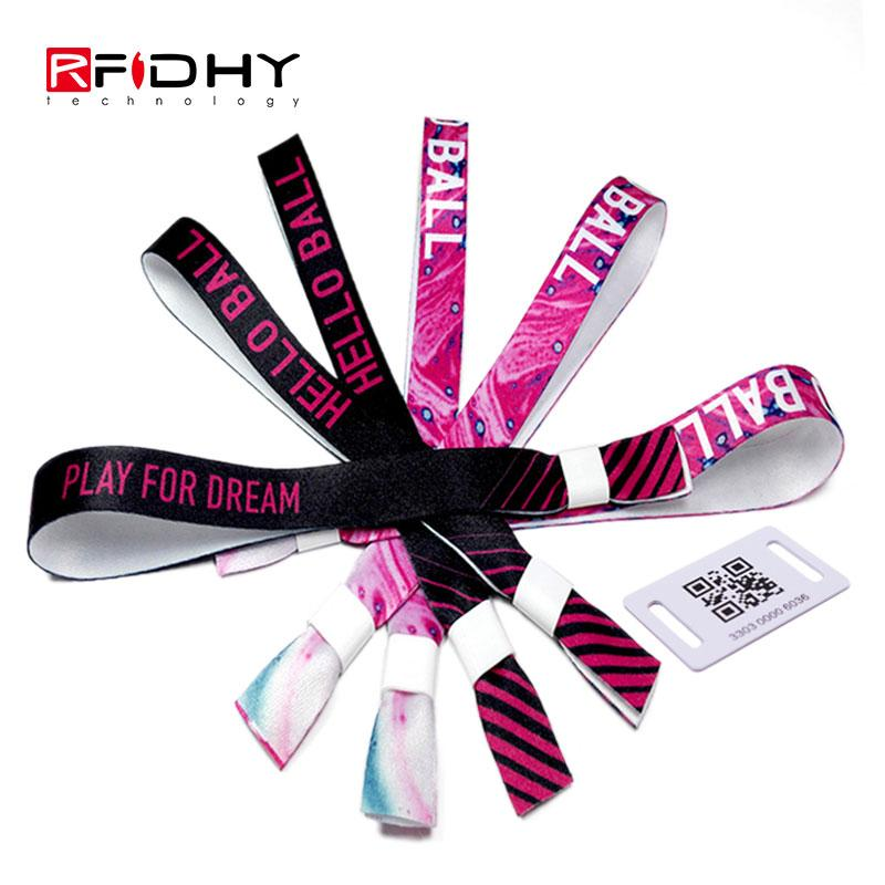 RFID fabric woven wristband 3