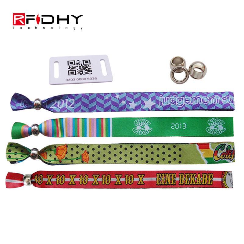 RFID fabric woven wristband 4