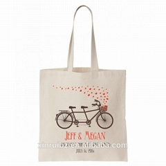 100%cotton romantic cute gift bag wedding favor tote with custom logo printed