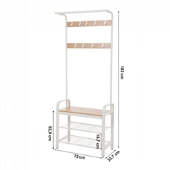 White Hall Rack / Hat and Coat Stand