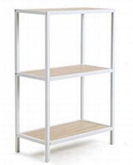 Modern Industrial 3-Tier Storage Shelf