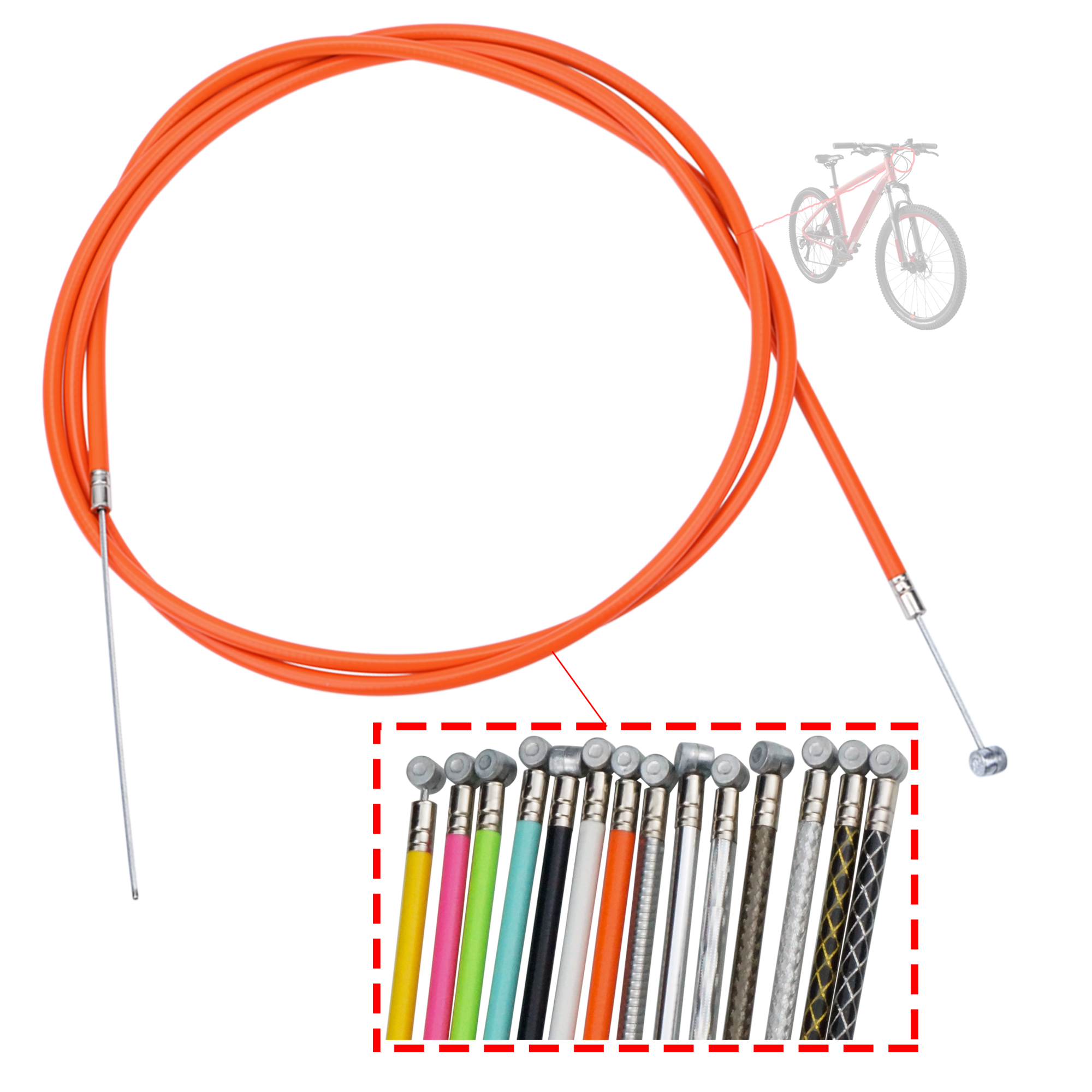 High-carbon steel brake cable for mountain bicycle 4