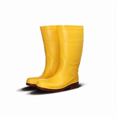 Men Work Safety Rain Boots PVC Gum Boots With Steel Toe