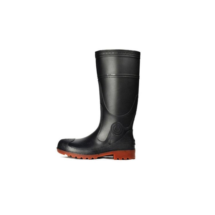 Men Work Safety Rain Boots PVC Gum Boots With Steel Toe 2
