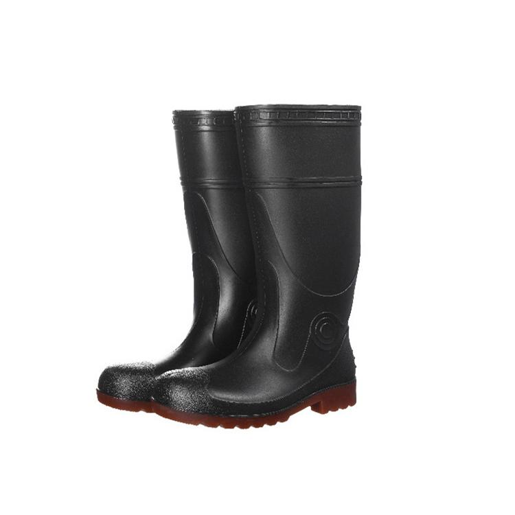 Men Work Safety Rain Boots PVC Gum Boots With Steel Toe 3