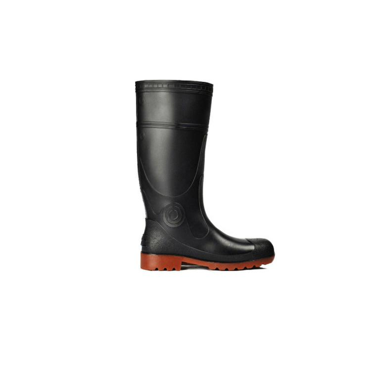 Men Work Safety Rain Boots PVC Gum Boots With Steel Toe 4